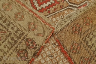 Small Persian Tribal Serab rug - 3'6 x 5'1 - 107 x 155 cm. - all light brown pile is camel hair - offered as found, could benefit from wash - inexpensive!