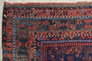 Antique Timuri Bird Baluch Main carpet - 6'11 x 9'0 - 210 x 275 cm.