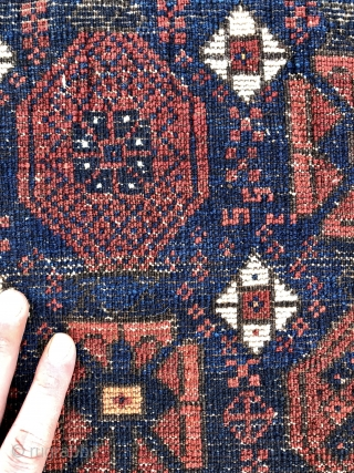 Timuri Baluch rug - 3'9 x 6'6 - 116 x 197 cm.