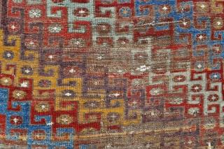 Central Anatolian Konya-Basarakavak Rug - circa 1800 - 4'1 x 7'10 - 125 x 240 cm. mounted on canvas.  The last image is of a rug on display in the Konya  ...