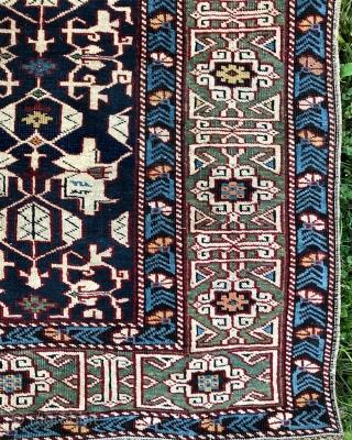 Konaghkent Kuba Caucasian rug - circa 1880 - 4'1 x 5'3 / 124 x 160 cm.