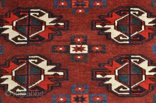Fine 9 Gul Yomud Turkmen Chuval - 3'9 x 2'9 - 114 x 83 cm. - old repair shown in last image.
