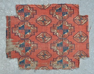 "Early Turkmen Ersari/Salor chuval fragment - 33"" x 26"" - 84 x 66 cm."