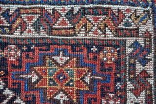 "Qashqai bagface, circa 1900 - 24"" x 24"" - 61 x 60 cm."