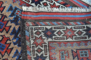 Baluch rug - Great colors and drawing, symmetrically knotted