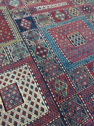 Amazing Antique Caucasian Verneh weaving - about 5'11 x 9'3 - 182 x 283 - 3rd quarter of 19th c. Great shape, incredible natural colors!