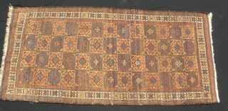 "Timuri rug, 33 X 69"".  Evenly low pile, but no wear spots, tears, holes or stains."