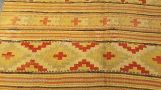 An Interesting Antique Sweedish flatweave. Nice colours very attractive 180 x 140.
