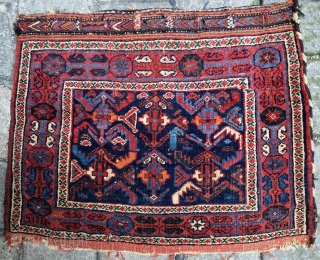 Afshar knotted bagface 72x57cm