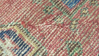 """AFSHAR small rug 42"""" x 50"""" that has an Khamseh feel to it- very likely a piece that would be categorized as an """"OUTBACK AFSHAR"""" according to Tom Cole's piece in Hali  ..."""