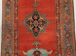 Spectacular Bijar Kelleye carpet from Northwest Persia circa 1870, with measurement of 6-5 x 12-7