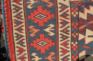 A very fine Yomut Asmalyk in excellent condition. Woven in the last quarter of the 19th century. All original ends and salvages with all natural color. it measures out to 2ft 5in  ...