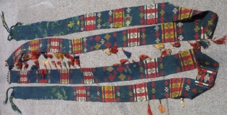#3882 Lakai Uzbek tent band ( animal trapping ) 19th c. 31/2 x 254 inches.