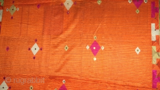 Rare design phulkari bagh from east Punjab India.the phulkari is in mint condition