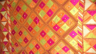 Vintage Phulkari From Punjab, India known as Suraj Mukhi Bagh. very rare pattern.