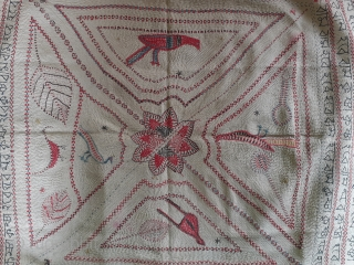 Antique kantha from West Bengal, early 19c,