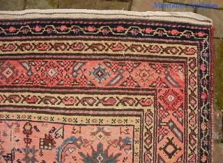 Malayer 4 ft 5 x 13 ft 6 inches. Obviously rare and unusual size. possibly 19th century. Pretty nice condition. Low but no foundation showing. Note red abrash.