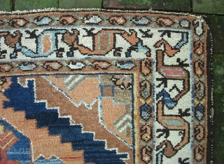 cf. Saveh Region-- 3 ft 5 x 4 ft 11. Uncluttered. Decorative. Good condition We just posted a whole slug of fresh stuff Check it out @ http://www.montaine-antiques.com/oriental-rugs/