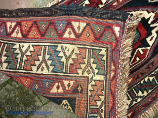 Veramin-- 14 x 39 inches. Plush, clean, excellent condition. We just posted a whole slug of fresh stuff. Check it out @ http://www.montaine-antiques.com/oriental-rugs/