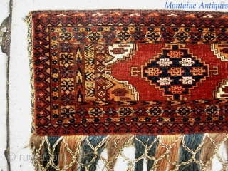 Turkoman 12 x 41 inches. Nice old piece in fine condition. $20 UPS to Lower 48.  Check out recent finds @ http://www.montaine-antiques.com/oriental-rugs/
