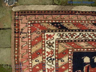 Northwest-- circa 1900--3 ft 5 inches x 11 ft 7 inches. Fine old Tribal textile. Some fucine (as is typical of rugs of this period.) Just a beautiful and decorative early piece  ...
