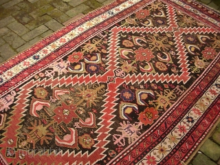 Caucasian-- 4.2 x 7.5. Kuba or Karabaugh. Please call for condition Report. Check out abundant fresh posts on our web site: http://www.montaine-antiques.com/oriental-rugs/