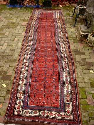 Sauj Bulak-- 3.5 x 14.1. Honest old ethnographic Kurd. Please call for condition Report. Check out abundant fresh posts on our web site: http://www.montaine-antiques.com/oriental-rugs/