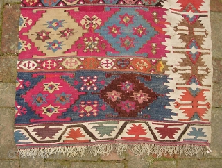 Reyhanli Kilim 2 ft 5 x 9 ft. Southeast Anatolia, last quarter 19th century.  This is a really fine textile with beautiful rich colors.