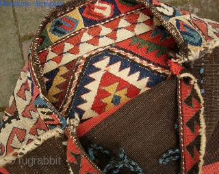 Caucasian Bag. 20 x 23 inches. Fine early flat woven piece. Beautiful colors. Excellent condition. The photos tell the story. The $20 for ups shipping to lower 48.