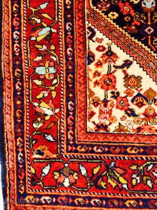"Nice old Arak rug measuring 4'3""x 6'6"" in good condition.  More pics available upon request."