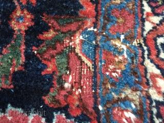 9'x12' Old Bijar with one small low area, pretty rug.