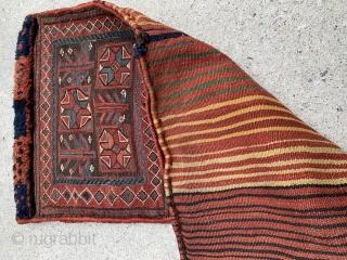 "Old Bakhtiari saddle bag, 18"" wide by 33"" long. Great shape."