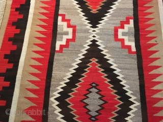 "Apologies for side way pictures: Rugrabbit is the only platform that posts  some of my pictures sideways. This is a 1940's-50's Navajo with minor condition issues measuring 4'4""x 8'4"". Thanks"
