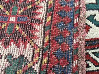 "Pretty 5'9""x 4'4"" Caucasian Key Hole Design. Possibly Armenian. Rug has scattered wear, few old repair jobs. Nice rug"
