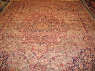 ANTIQUE LAVAR KERMAN CIRCA 1900 