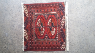 Very good old turkmen small rug. In excellent condition 36x42