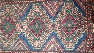 High quality balished with rich colors and vegetable dyes, 70 years old, 70x53 cm