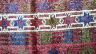 Antique baloch rug. Shiny and smooth like a silk. Almost 100 years old. Size 210x111 cm