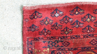 A pair of old turkmen chuval with synthetic dyes. each size 137x85 cm