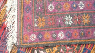 Balochi carpet with very rich colors and vegetable and synthetic dyes. Size 275x135 cm