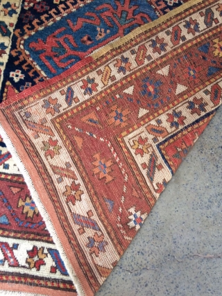 19th century and high quality shervan. It is very soft and light weight with very strong colors. size 306x205 cm