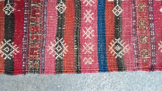 Antique qalainaw kilim with very good design. Size 147x90 cm
