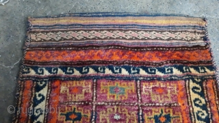 Antique Baluchi Tribal Cushion/Balisht with amazing colors and Persian Bakhtiari Design.Age More than 60 years old.Size 91x57 cm