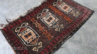 Antique Tribal Baluchi Torba with unusual design.Size 75x45 cm