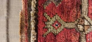 Sold.... Anatolian Sivas saddle bag rug fragment, 40x26 cm