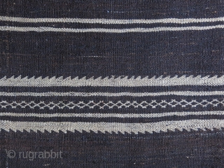 "Eastern Turkey - Turkmen kilim woven with only goat hair and tiny cotton on one end, in great condition. Circa 1920s size: 91"" X 68""  -- 230 cm X 172 cm"