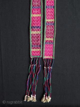 Anatolian Turkmen Silk Embroidered Belt.
