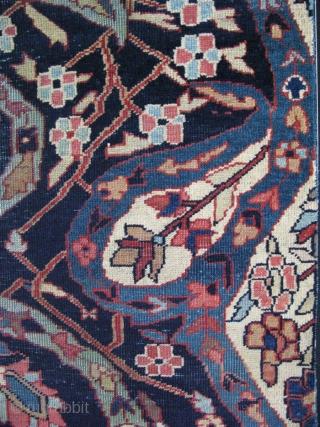 "Persian carpet fragment. Size: 18"" x 29.5"" - 46 cm x 75 cm."