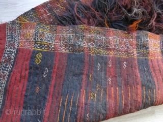 "Eastern Anatolia Mt. Ararat Kurdish Tuylu - shaggy rug All wool with mix dyes some natural. Circa 1920 -1930s size: 97"" X 52"" - 245 cm X 132 cm"