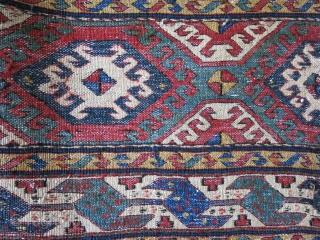 "Shahsvan bedding bag side panel Circa late 19th. good condition. size : 43"" X 19.5""  - 109 cm X 50 cm"